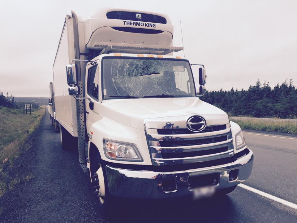 Trucker Lucky to be Unhurt After Mattress Flies Into Rig