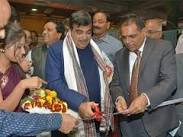 Nitin Gadkari inaugurates Corporate Exhibition stall of Kandla Port at India Maritime 2015