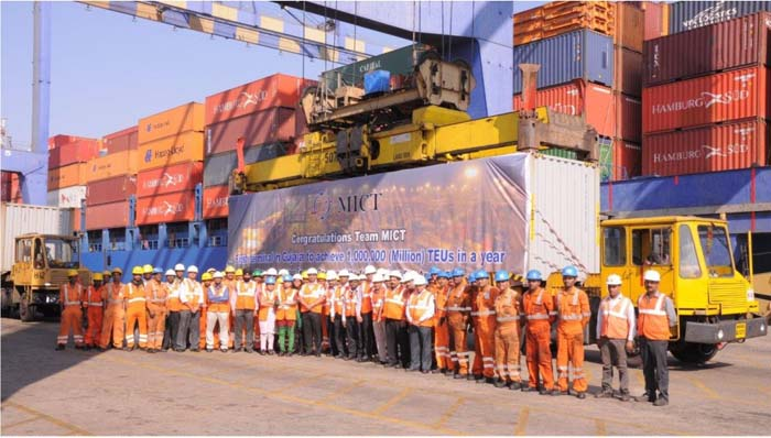 Mundra International Container Terminal handles One Million TEUs in 2014