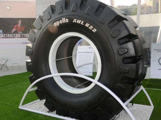 Apollo Tyres launches India\'s largest loader tyre