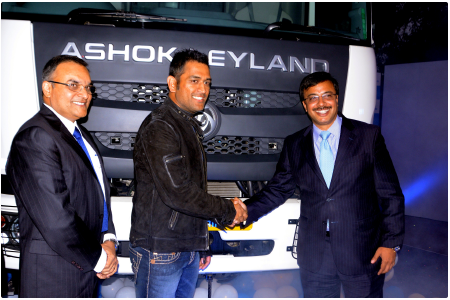 Ashok Leyland launches truck series named Captain after MS Dhoni