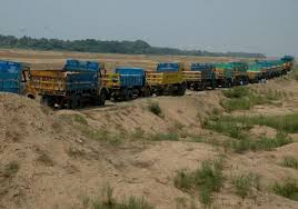 Sand mining ban: lorry owners fume