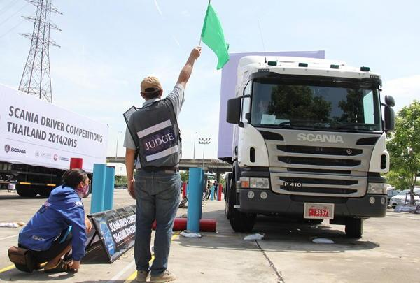 Scania truck and bus driving skill competitions Thailand 2014/2015