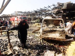 Islamic State truck bomb kills at least 54 in Baghdad market
