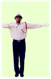 Traffic Police Hand Signals - To give VIP salute